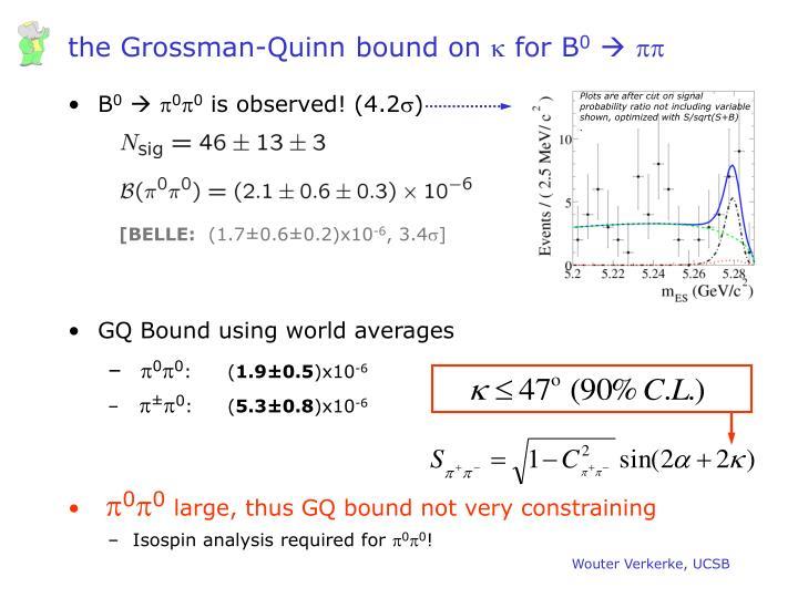 the Grossman-Quinn bound on