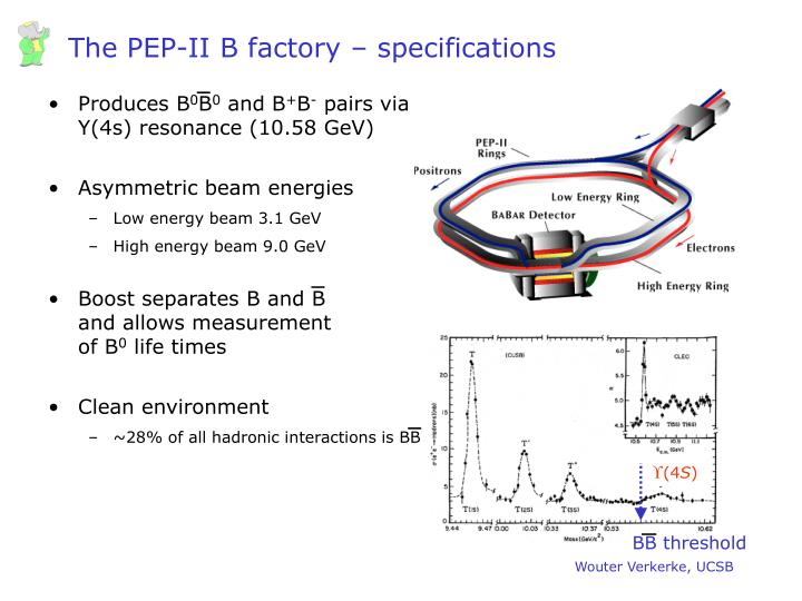 The PEP-II B factory – specifications