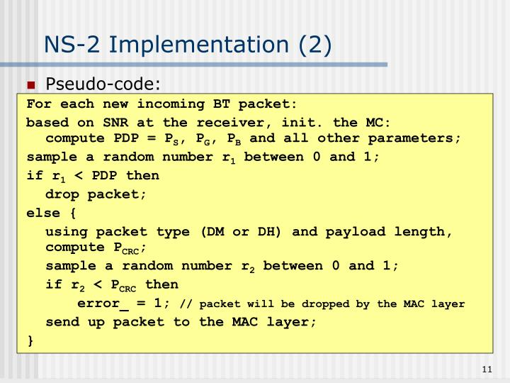 NS-2 Implementation (2)