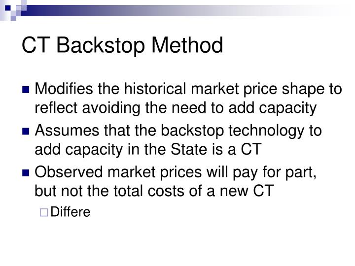 CT Backstop Method
