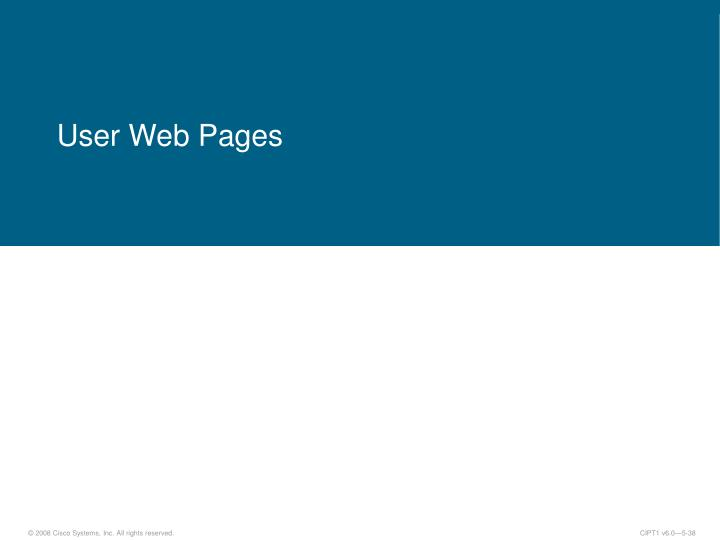 User Web Pages
