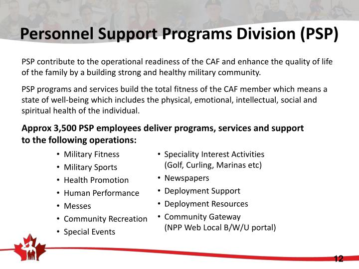Personnel Support Programs Division (PSP)