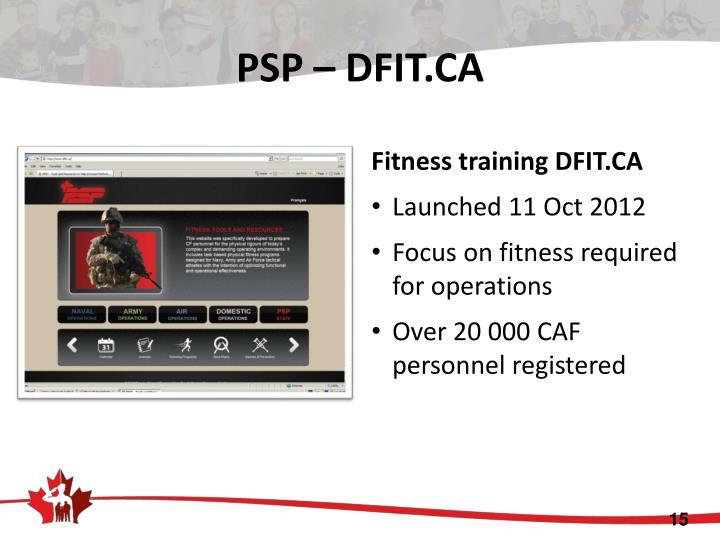 PSP – DFIT.CA