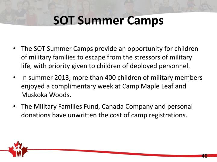 SOT Summer Camps