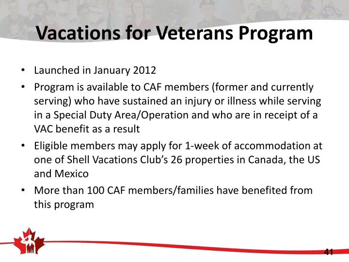 Vacations for Veterans Program