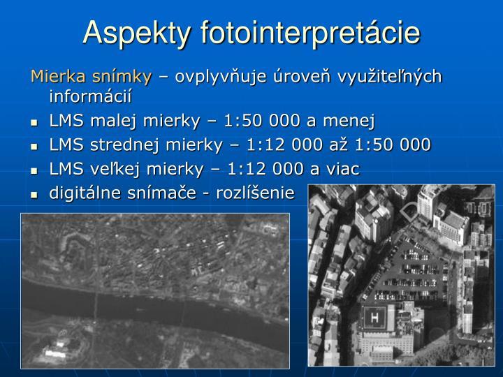 Aspekty fotointerpretácie