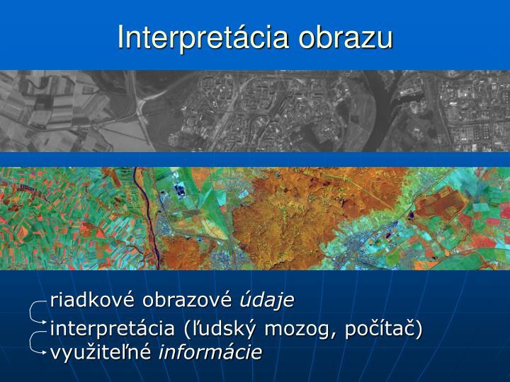 Interpretácia obrazu