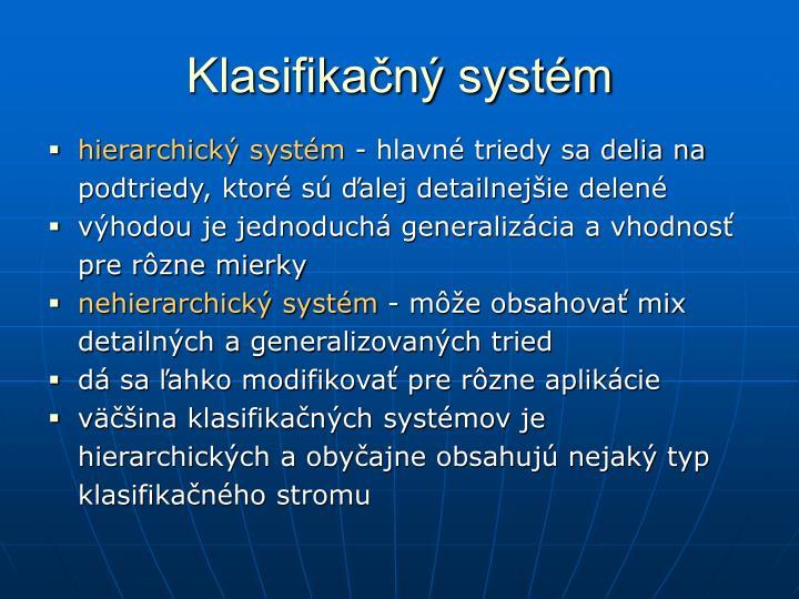 Klasifikačný systém