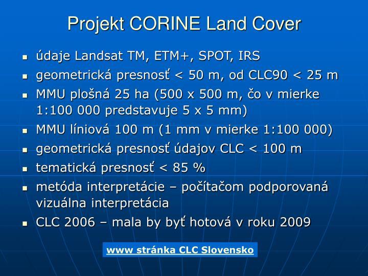 Projekt CORINE Land Cover