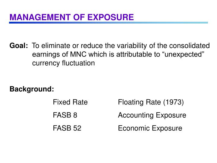MANAGEMENT OF EXPOSURE