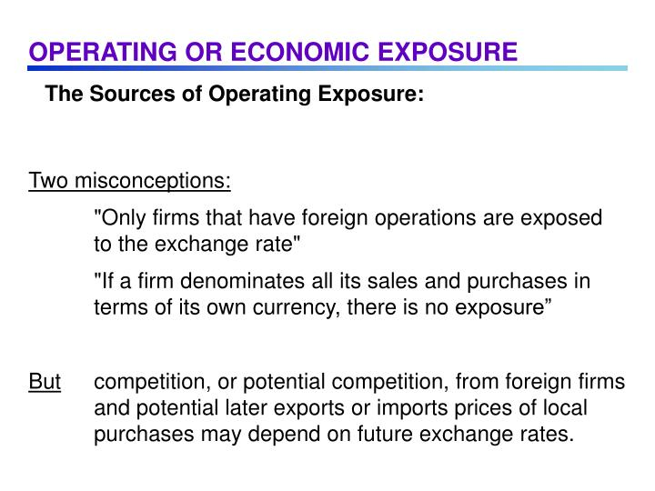 OPERATING OR ECONOMIC EXPOSURE