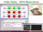 video demo with reservation