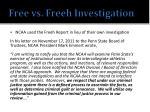 free vs freeh investigation