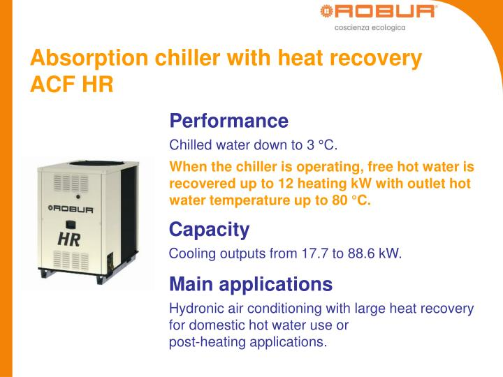 Absorption chiller with heat recovery