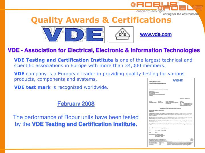 Quality Awards & Certifications
