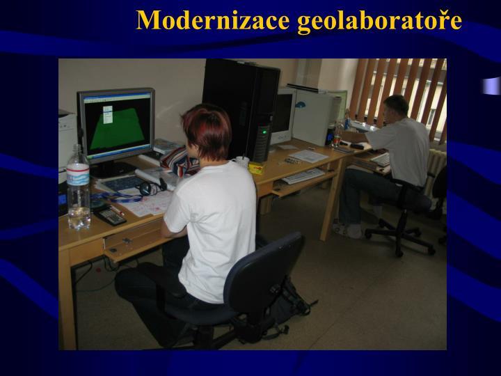 Modernizace geolaboratoře