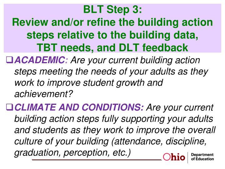 BLT Step 3: