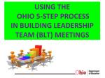using the ohio 5 step process in building leadership team blt meetings