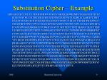 substitution cipher example