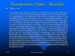 transposition cipher example
