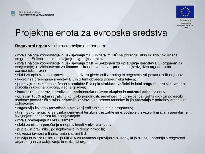 Projektna enota za evropska sredstva