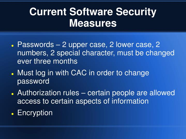 Current Software Security Measures