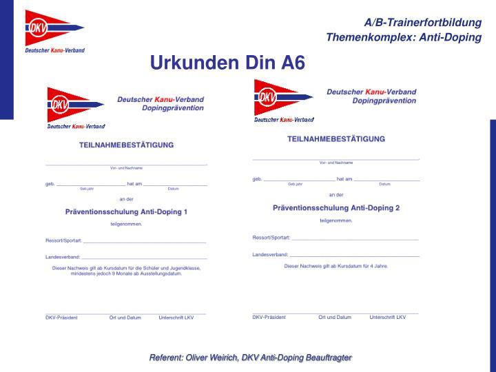 Urkunden Din A6
