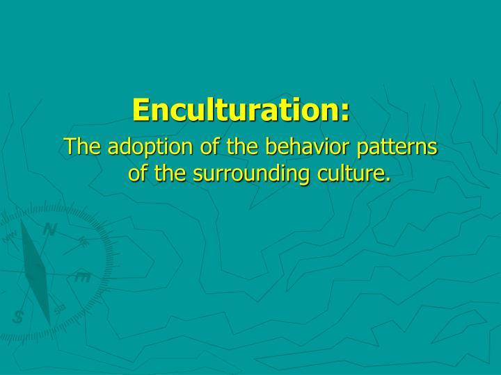 Enculturation: