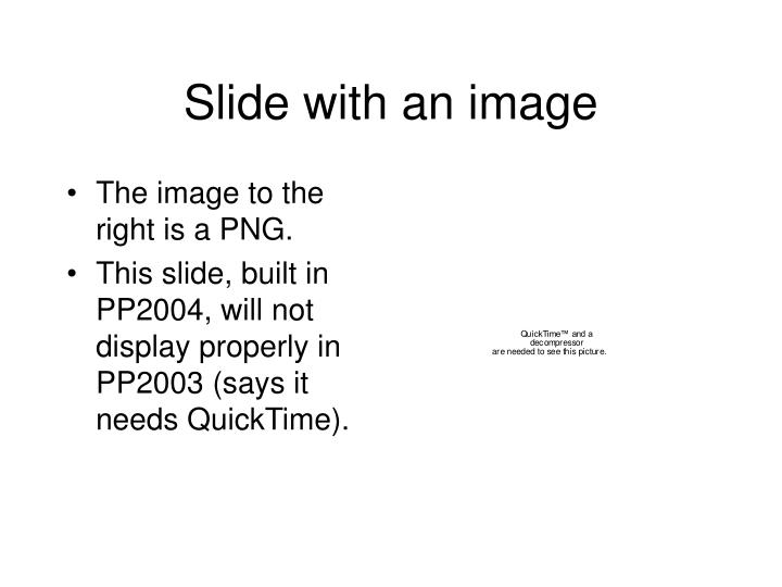 Slide with an image