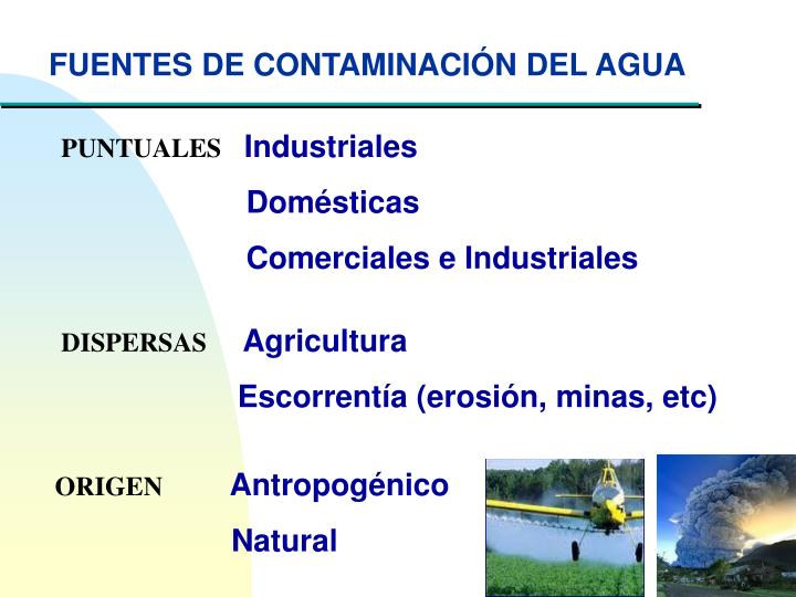 FUENTES DE CONTAMINACIÓN DEL AGUA