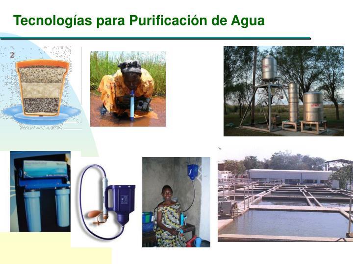 Tecnologías para Purificación de Agua