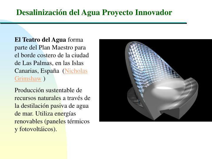 Desalinización del Agua Proyecto Innovador