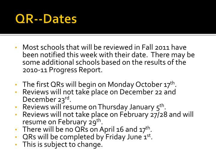 QR--Dates