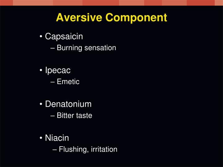 Aversive Component