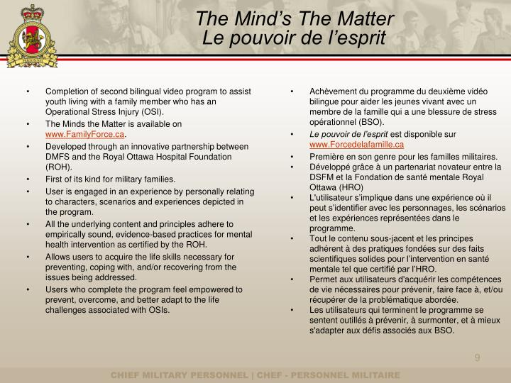 The Mind's The Matter