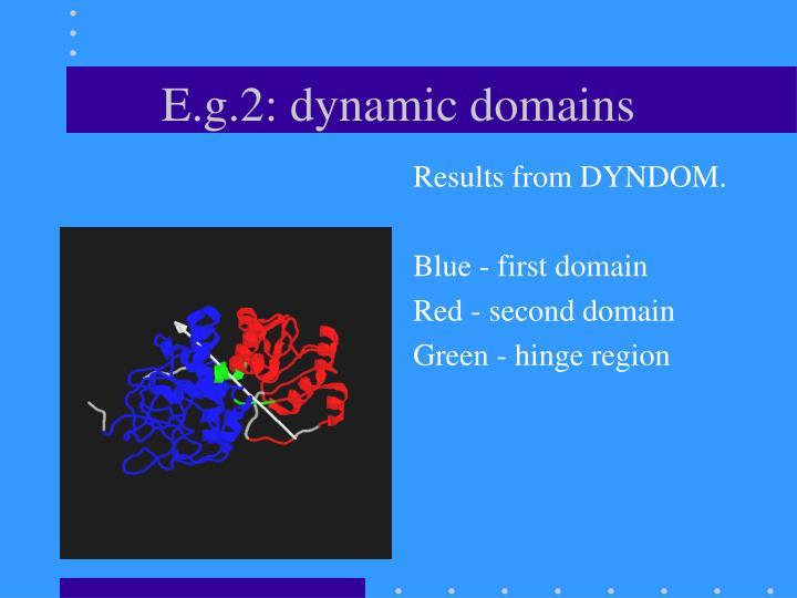 E.g.2: dynamic domains