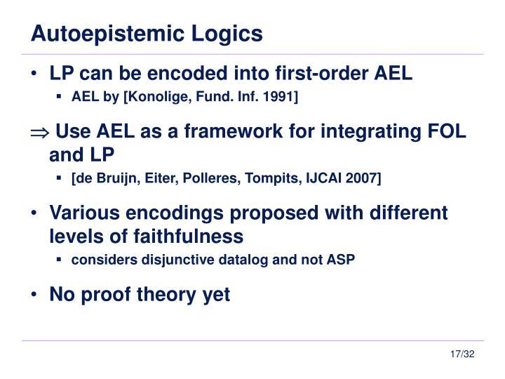 Autoepistemic Logics
