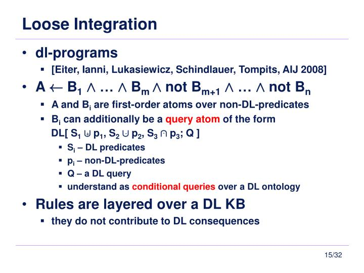 Loose Integration