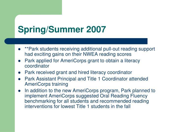 Spring/Summer 2007