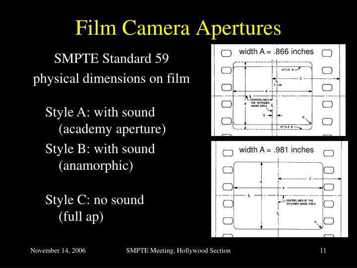 Film Camera Apertures