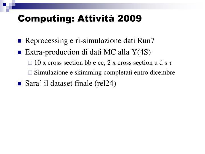 Computing: Attività 2009