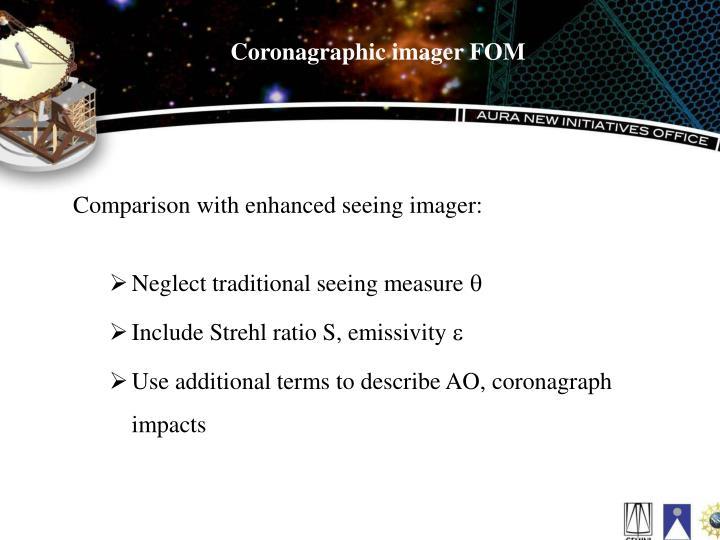 Coronagraphic imager FOM