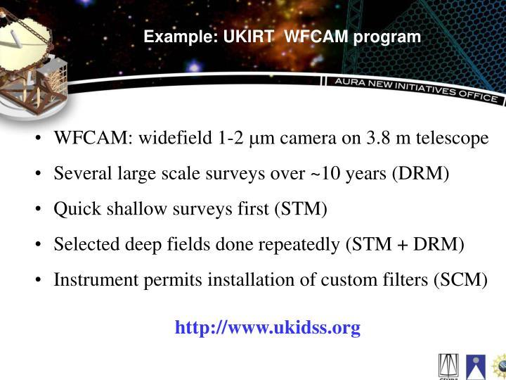Example: UKIRT  WFCAM program