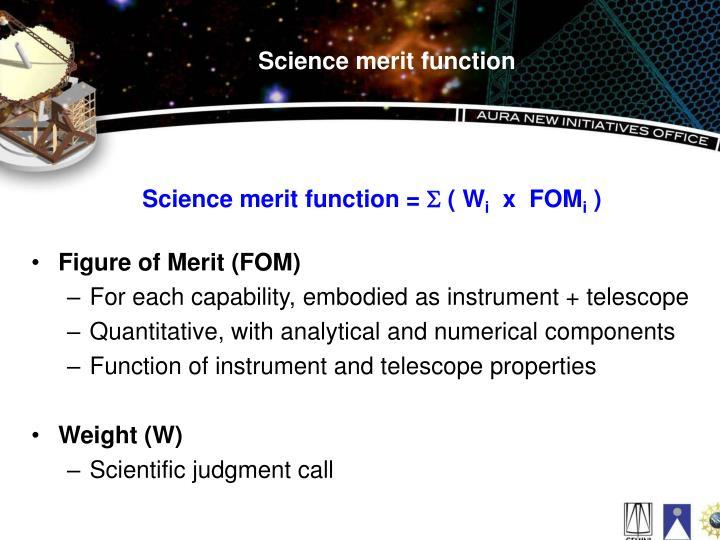 Science merit function