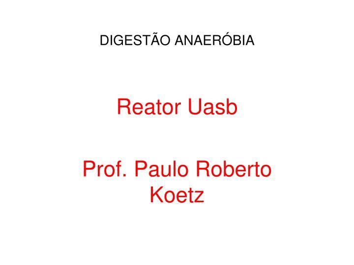 DIGESTÃO ANAERÓBIA