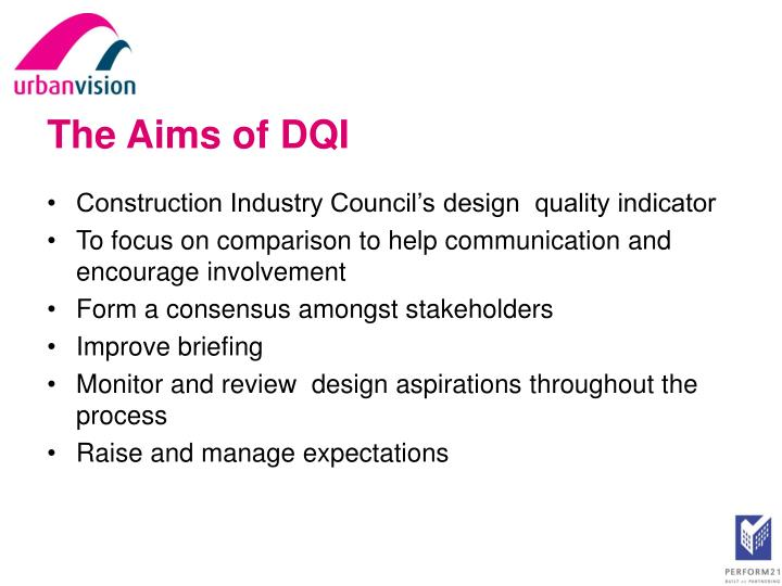 The Aims of DQI