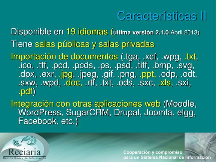 Características II