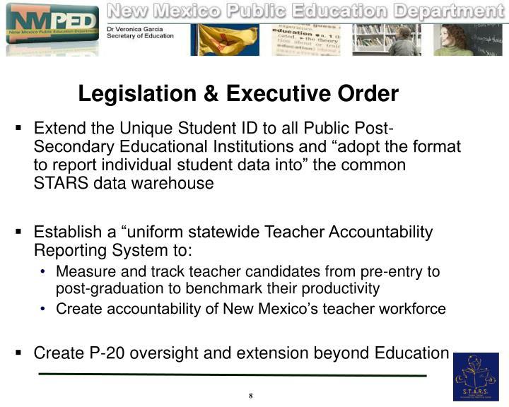 Legislation & Executive Order