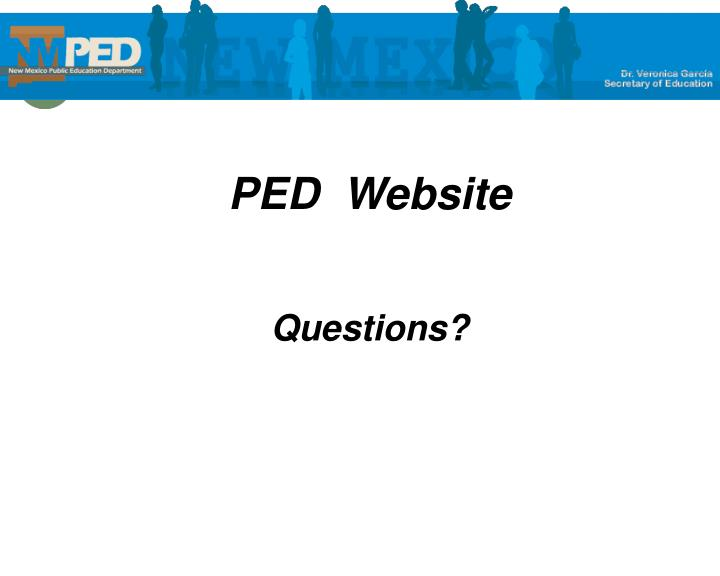 PED  Website