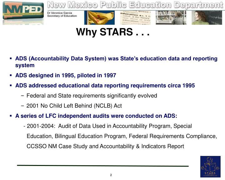 Why STARS . . .